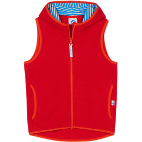 Finkid Poppeli Fleece Vest Kinderen, red/grenadine